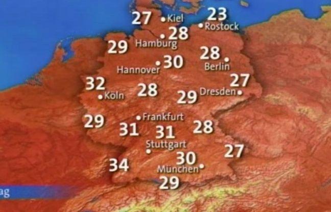 Les prévisions météo allemandes du 18 août 2009.