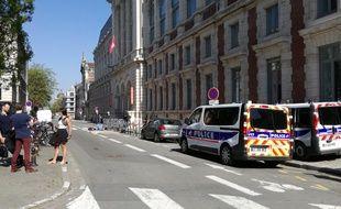 Sciences Po Lille bloqué, le vendredi 20 avril.
