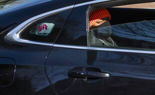 Un passager dans un véhicule Lyft aux Etats-Unis.