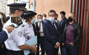Le ministre de l'Intérieur lors d'une opération anti drogue le 1er septembre dernier à Choisy-leRoi (Val-de-Marne)