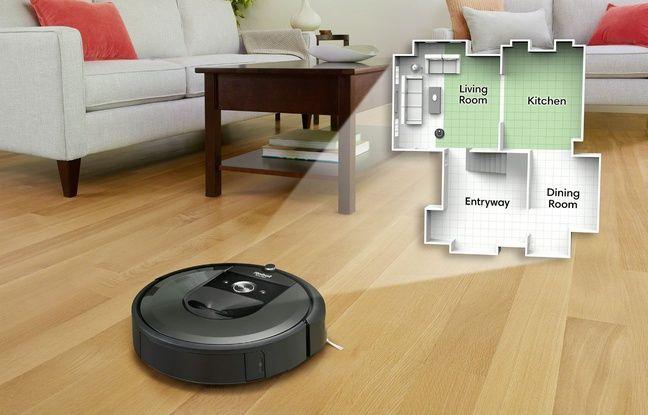 Le Roomba i7+ cartographie son intérieur et permet de choisir la pièce que l'on veut nettoyer.