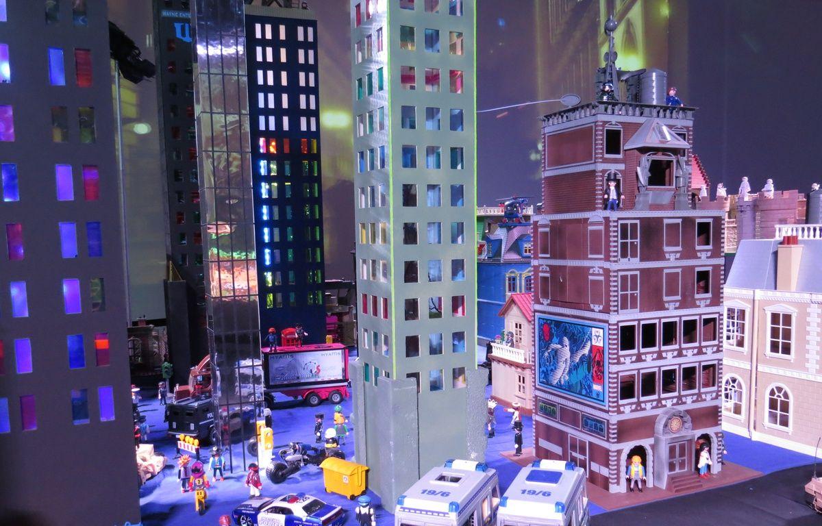 Mini World accueille jusqu'au 18 avril, une exposition consacrée aux Playmobil, à travers six films. Ici la saga Batman – C. Girardon / 20 Minutes