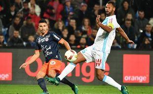 Morgan Sanson lors d'un match entre Montpellier et l'OM le 4 novembre 2016.