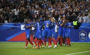 L'équipe de France de footbal, jeudi 31 août 2017, au stade de France face aux Pays-Bas.