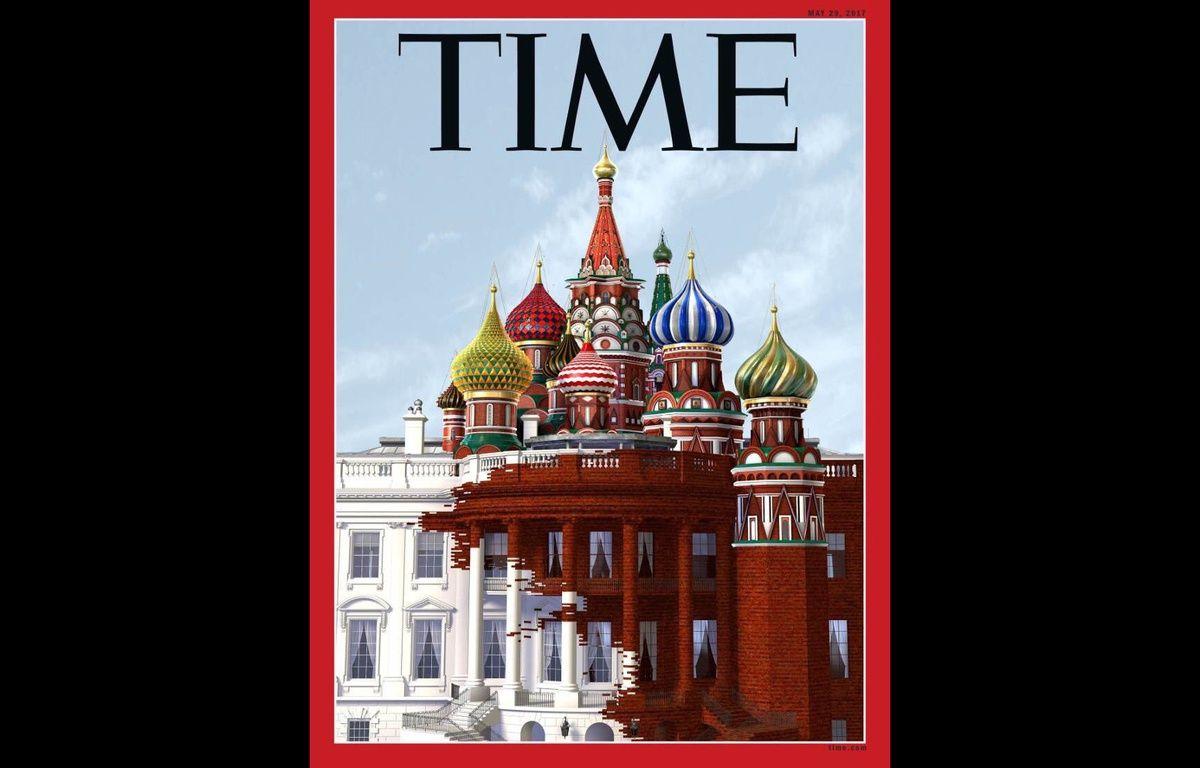 La couverture du magazine «Time» du 18 mai 2017 sur Donald Trump et la Russie. – TIME