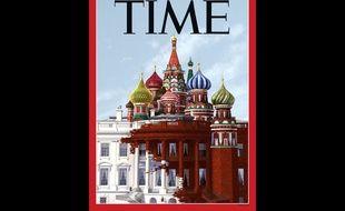 La couverture du magazine «Time» du 18 mai 2017 sur Donald Trump et la Russie.