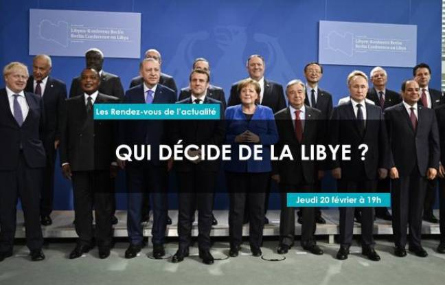 Chefs d'états du monde entier lors de la conférence de Berlin sur la Libye