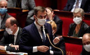 Le ministre de la Santé, Olivier Veran, à l'Assemblée nationale, le 29 septembre 2020.