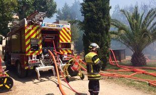 D'importants moyens ont été mobilisés pour éteindre un incendie à Châteaurenard