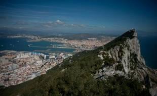Le rocher de Gibraltar, le 17 mars 2016