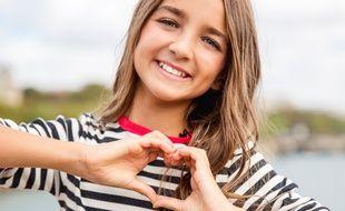 Angéline, candidate de la France à l'Eurovision Junior 2018.