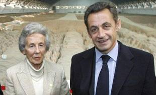 Andrée et Nicolas Sarkozy, en Chine, le 25 novembre 2007.