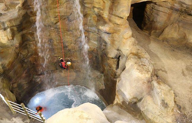 Le Vesubia Mountain Park permet de pratiquer le canyoning indoor.
