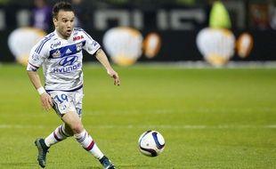 Mathieu Valbuena lors de Lyon-Saint-Etienne le 9 novembre 2015.
