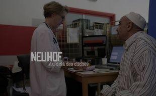 Un chibani, vieil homme travailleur immigré, du Neuhof vient donner son sang. Le film «Le Neuhof, au-delà des clichés» donne une autre vision de ce quartier de Strasbourg que ceux qui lui accolent (drogue, chômage, etc.).