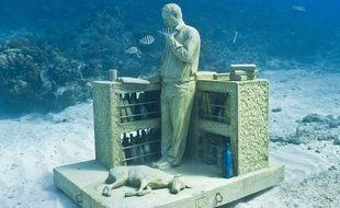 L'une des œuvres les plus connues de Jason deCaires Taylor exposée à Cancun.