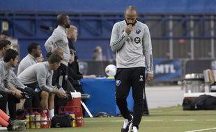 Thierry Henry a perdu avec son équipe de l'Impact Montreal pour le retour de la MLS, le 10 juillet 2020.