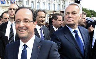 François Hollande et Jean-Marc Ayrault, le 15 mai 2012 à Paris.