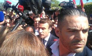 Emmanuel Macron à la Verrerie ouvrière d'Albi, le 4 mai 2017.