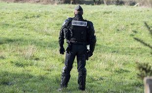 Un gendarme. (Illustration)