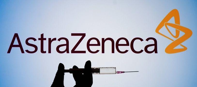 Le logo du laboratoire AstraZeneca.