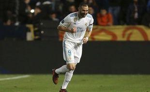 Karim Benzema a inscrit un doublé lors de la balade du Real Madrid sur la pelouse de l'Apoel Nicosie (0-6) en Ligue des champions, le 21 novembre 2017.