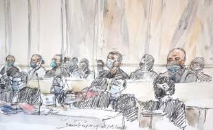 Ali Riza Polat - au premier plan au dessus de son avocate, Me Coutant-Peyre - est le dernier des onze accusés présents à être auditionné sur les faits