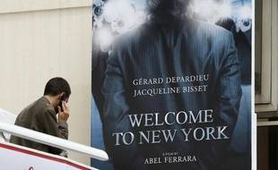 "L'affiche du film ""Welcome to New York"", qui sortira samedi, était visible dès le 16 mai 2013 au Festival de Cannes"