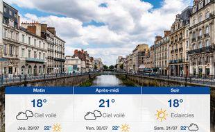 Météo Rennes: Prévisions du mercredi 28 juillet 2021