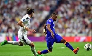 Le Français de la Juventus de Turin Patrice Evra contre le Real Madrid, le 13 mai 2015.