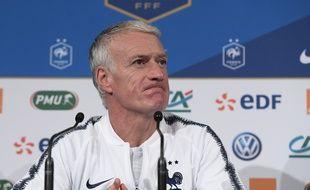 Didier Deschamps en conférence de presse, le 19 novembre 2018.
