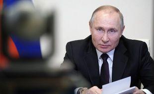 Vladimir Poutine, le 11 mars 2021 à Moscou.