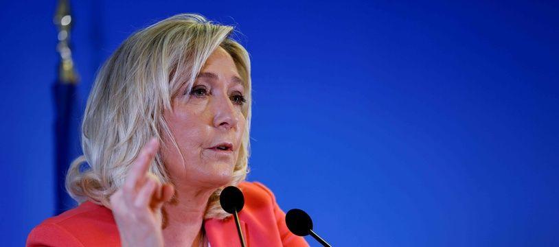 Marine Le Pen, le 29 janvier 2021 à Paris.