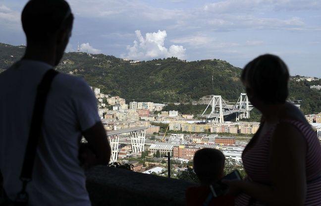 Pont effondré à Gênes: Un an après, l'Italie commémore le drame et ses 43 morts