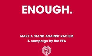 L'association des joueurs professionnels anglais a lancé une campagne de lutte contre le racisme sur les réseaux sociaux.