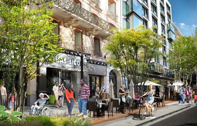 L'avenue Janvier telle qu'elle devrait être après son réaménagement par la ville de Rennes.