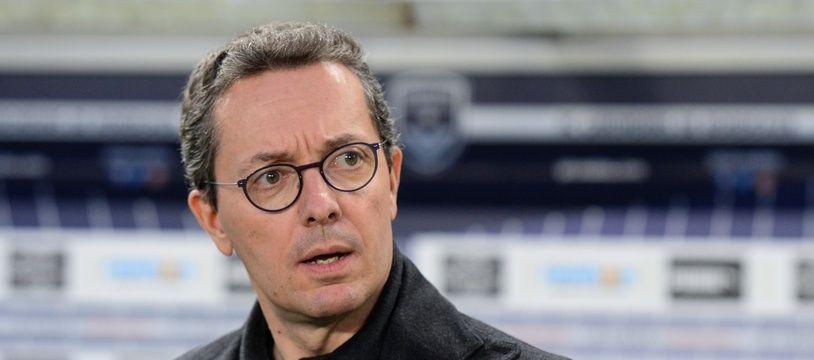 Jacques-Henri Eyraud, président de l'OM, lors d'un match face à Bordeaux.