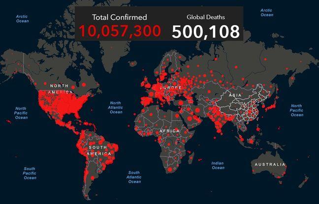 Coronavirus: En six mois, le Covid-19 a fait 500.000 morts, la barre des 10millions de cas dépassée