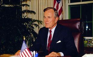 L'ancien président américain George H.W. Bush (ici en 1990) est décédé le 30 novembre 2018 à 94 ans.
