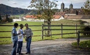 Des demandeurs d'asile érythréens dans le monastère suisse Einsiedeln le 15 octobre 2014