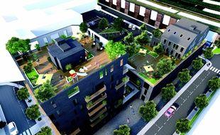 Sur les toits, des terrasses sont à partager entre copropriétaires.