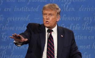 Donald Trump, pendant le débat qui l'a opposé à Joe Biden, le 29 septembre.