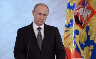 Le président russe Vladimir Poutine au Kremlin à Moscou le 4 décembre 2014