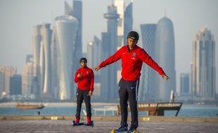 Le défenseur du PSG Marquinhos, le 29 décembre 2015 à Doha.