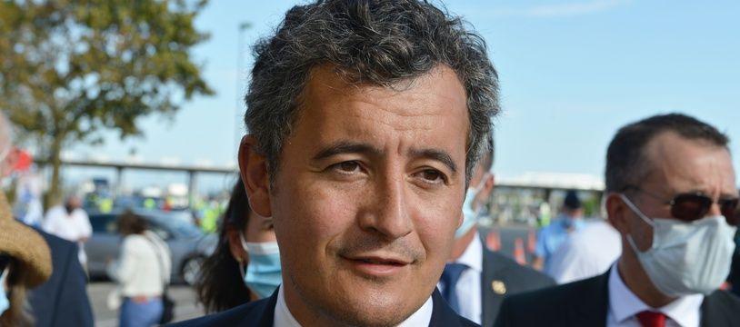 Le ministre de l'Intérieur Gérald Darmanin le 21 août 2020 dans l'Isère.