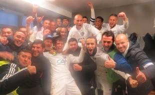 Les joueurs de Lille-Sud après leur victoire au 7e tour de Coupe de France