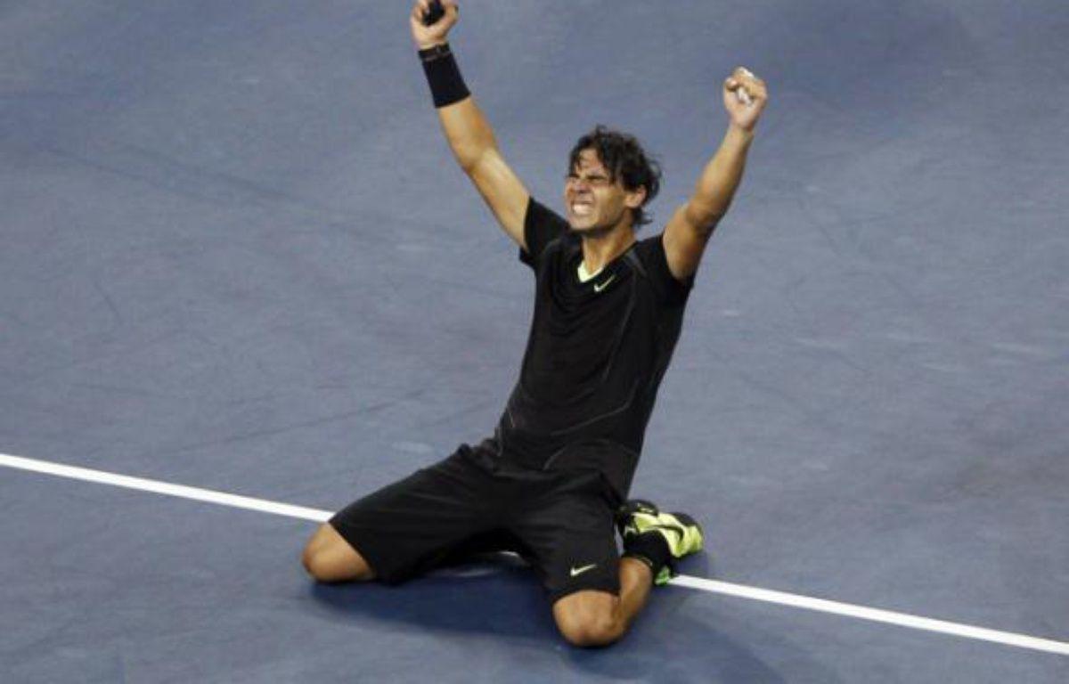 L'Espagnol Rafael Nadal lors de sa victoire à l'US Open face à Novak Djokovic, le 13 septembre 2010. – J.Rinaldi/REUTERS