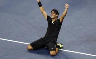 L'Espagnol Rafael Nadal lors de sa victoire à l'US Open face à Novak Djokovic, le 13 septembre 2010.