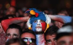 Un supporter français dans la fan zone marseillaise.