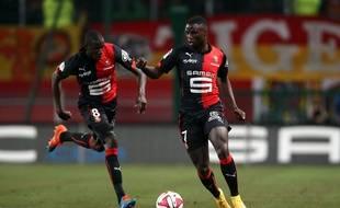 Abdoulaye Doucouré et Paul-Georges Ntep s'entendent comme larrons en foire à Rennes.